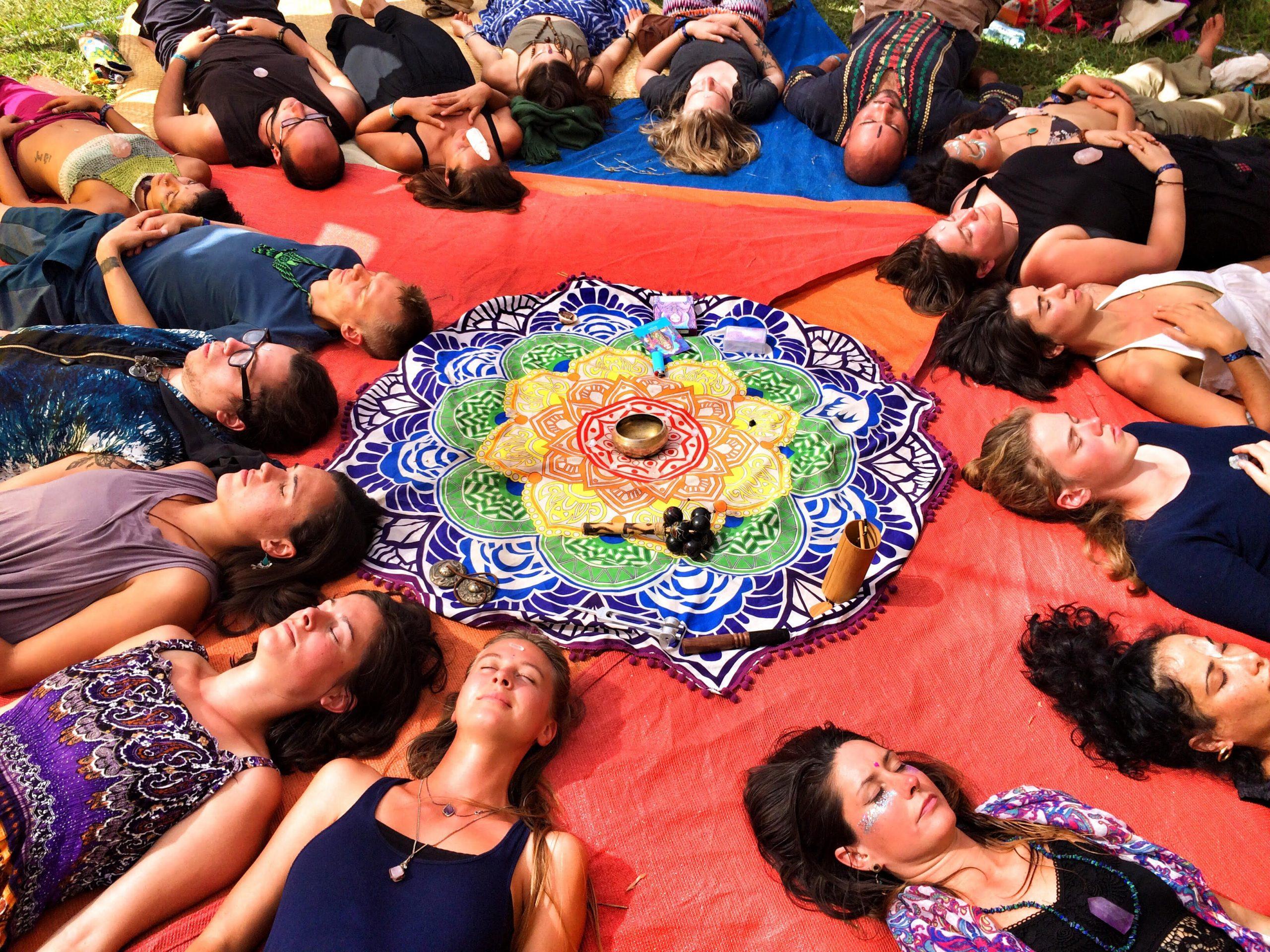 Chakra healing ceremony
